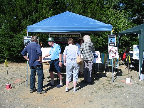 Coalwatch booth at the Lighthouse Country Fall Fair in Qualicum Bay