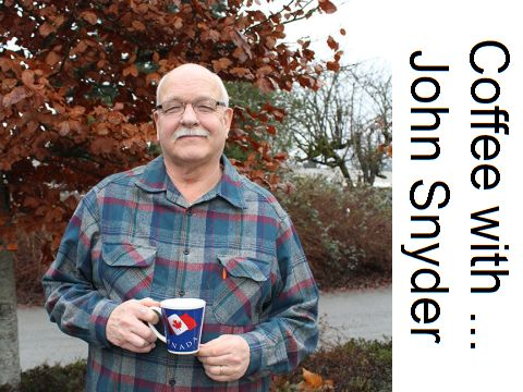 John Snyder with Coffee