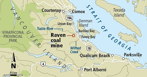 Province rejects Raven application - map