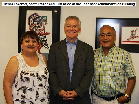 Scott Fraser with Debra Foxcroft and Cliff Atleo